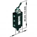 Ручной и механически упр. клапан Norgren 03040302 тип рычаг/рычаг, соед. G1/8
