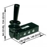 Ручной и механически упр. клапан Norgren X3363702 тип рычаг/рычаг/рычаг, соед. G1/4