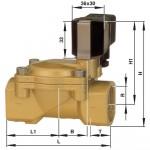 Соленоидный клапан 2/2-ходовой Busch Jost 8240200.9101.02400